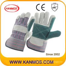Doble Palma Industrial Seguridad vaca Split cuero trabajo guantes (110141)