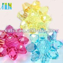 Perles acryliques transparentes de 27mm! perles à facettes acryliques perles de couleurs mélangées!