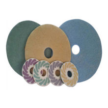 Diamond sponge dry polishing pads for floor polishing