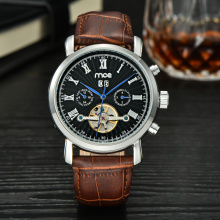 luxury automatic skeleton menchanical men watch