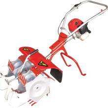 Gasoline engine double rows paddy rice weeder