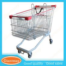 Le nouveau panier de supermarché élégant personnalisé avec roues pivotantes en caoutchouc