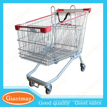 newest customized stylish supermarket shopping cart with swivel rubber wheels