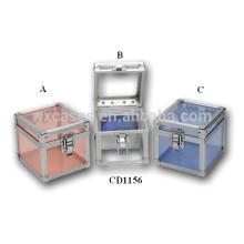 niedliche 80 CD Festplatten Aluminium DVD-Box mit klar Acrylplatte wie Wände