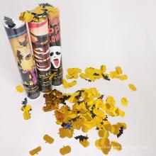 Fiesta de Halloween Popper con confeti de calabaza y murciélagos