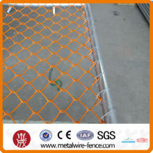 60*60mm Galvanized/PVC coated Removable chain link fence