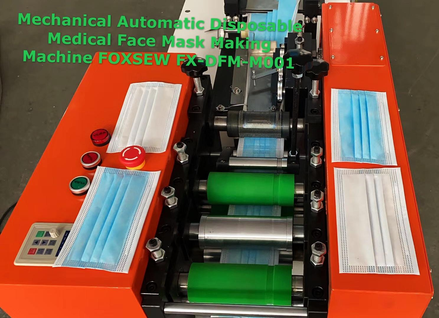 Mechnical Automatic Disposable Medical Face Mask Making Machine -2