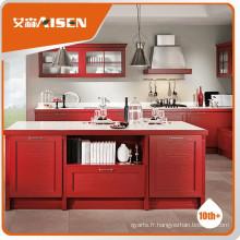 Cuisinière blanche de qualité supérieure Laquer Porte Cabinet de cuisine, essuie-glace de cuisine / bébé