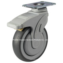 Swivel with Brake Medical TPR Caster
