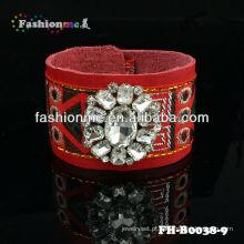 Venda grande couro shourouk pulseiras