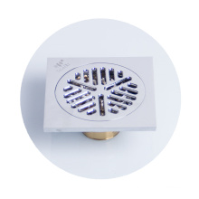4 inch square commercial brass shower floor drain grates
