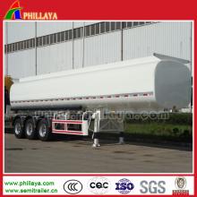 Semi remolque del tanque del acero inoxidable del transporte del aceite de la alta calidad