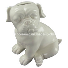 Animal Shaped Porcelain Craft, Ceramic Dog Piggy Bank