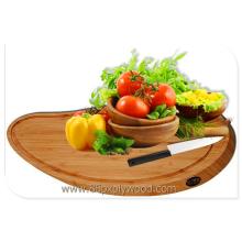 solid bamboo kitchen board, kithcen block fruite cutting board