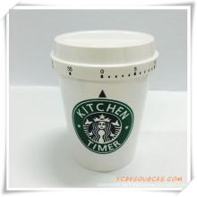 Förderung Kunststoff Starbuck Kaffee Form Timer (HA35005)