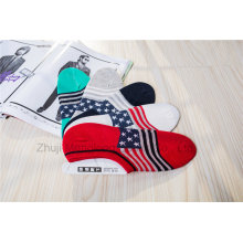 Fashion Flag Design Men Low Cut Socks Invisible Socks Board Socks with Silicion Gel Heel