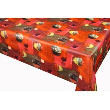 Toalha de mesa impressa bolo com revestimento protetor não tecido