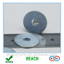 zinc coating N40 grade NdFeb ring magnet