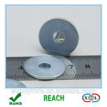 Цинковое покрытие N40 класс неодимовый магнит-кольцо