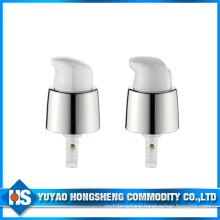 18mm Gloss Silver Metal Cream Pump Lockable Face Liquid Pump