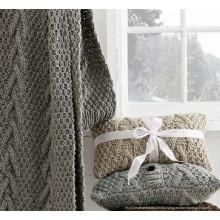 Сплошной цвет трикотажный шарф / бросок на зиму