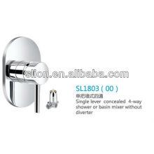 Mezclador de 4 vías o mezclador de lavabo monocomando sin desviador