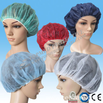 Disposable PP Bouffant Cap, Multicolor