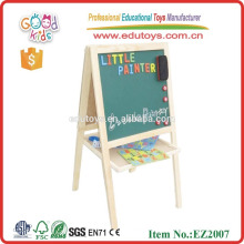 Early learning drawing toys interative dry eraser blackboard wooden magnetic whiteboard