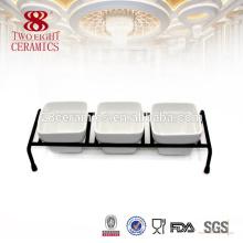 Placas de cerâmica e pratos de pratos