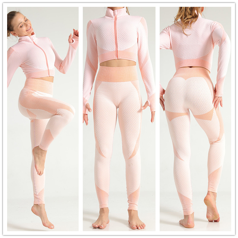 Yoga Outfits Jacquard