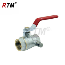 with steel handle valve female valve brass ball valve