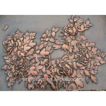 Alívio de parede de cobre chinês personalizado para decoração