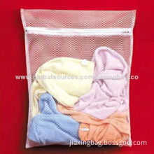 Laundry Bag with Zipper, Made of Polyester MeshNew