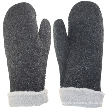 NMSAFETY черный ПВХ интерлок плюшевый мех с черными точками ПВХ на поверхности перчатки