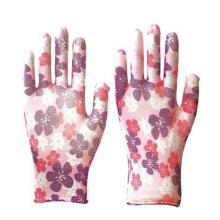 Venta al por mayor Patrón decorativo / Color Nitrilo Smooth Garden Work Gloves Personalizable Half Nated Glass Nitrile Industry Guantes