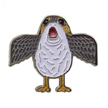 Porg Flapping Wings Meme Enamel Pin