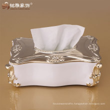 home decorated paper tissue box with resin material at best price