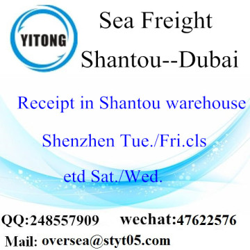 Shantou Port LCL Consolidation To Dubai