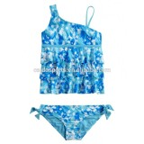 Paint splatter tankini swimsuit
