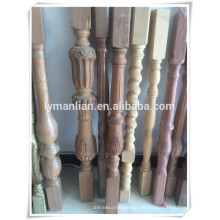 balaustres de madera decorativos antideslizantes / diseños de balaustres de madera / nariz de escalera decorativa