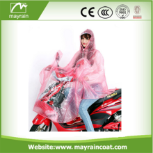 Pvc Fabric Raincoat Poncho for Motorbike Bike