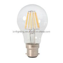 Ampoule d'économie d'énergie de filament de l'usine A55 / A60 LED avec 2W 4W 6W 8W pour E14 / E27