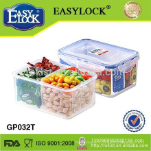 plastic food contain with compartments