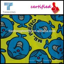 Mr. Perfect cartoon caractère design 100 % satin de coton armure réactive mourant tissu de chemise de nuit