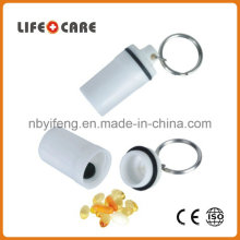 Good Promotion Medical Plastic Pillbox Keychain