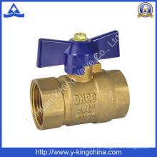 Válvula de bola de cobre con la manija de la mariposa (YD-1027)