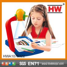 Desenho de projetores de crianças vendendo quente que aprende a armação