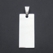 Stainless Steel Tags for Bracelets DIP in Silver Jewelry
