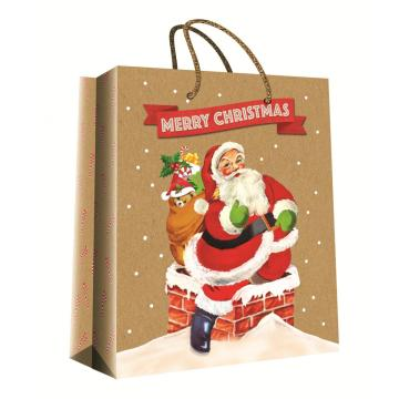 CHRISTMAS SERIES KRAFT GIFTBAG23-0