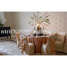 100% poliéster cadeira cobre, tampas da cadeira do banquete